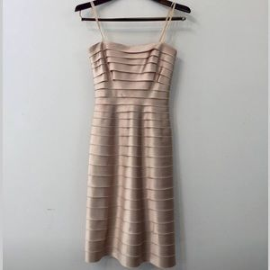 BCBGMaxAzria Champagne Summer Cocktail Dress